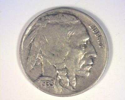 1935-D Buffalo Indian Head Nickel Vintage Antique 80+ Year Old Coin F-Vf ~350656