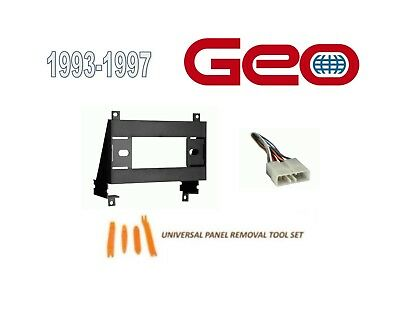 fits geo prizm 1993-1997 car stereo install dash kit,wire harness