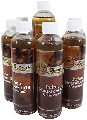NEW LOT Of 7 x NEATSFOOT PRIME Oil Compound LEATHER CONDITIONER 7 x 8 Oz Bottles