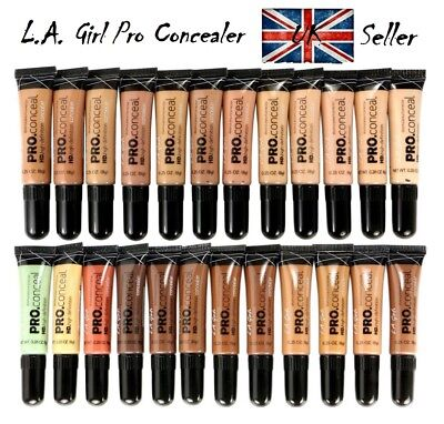 LA Girl PRO CONCEALER L A GIRL HD Conceal **100%Authentic***28 SHADES**UK Seller