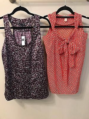 Lot of Sleeveless Tops Banana Republic and the GAP Size Small