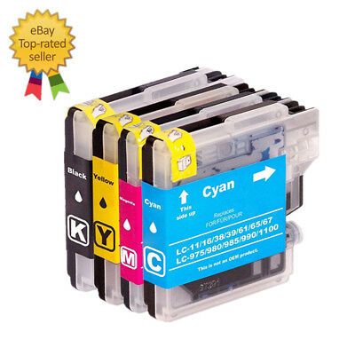 4 Ink for Brother LC61 MFC-490CW MFC-495CW MFC-295CN MFC-5490CN MFC-J415W