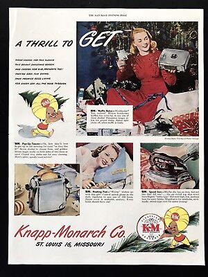 1947 Vintage Print Ad 40's KNAPP MONARCH Iron Toaster Small Appliances Image