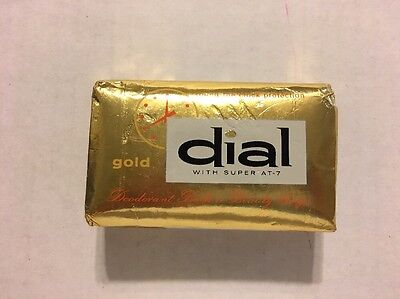 Vintage bar Dial Deodorant Soap GOLD Round The Clock Protection