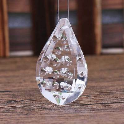 50mm Clear Raindrops Crystal Glass Chandelier Lighting Prisms Hanging Pendant