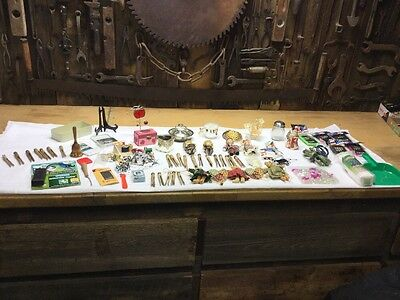 Junk Drawer Lot Godinger Silver Art Co. ,Sewing, Wooden Clothes Pins