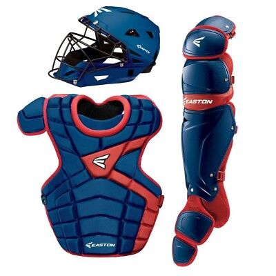(Royal/Red) - Easton M10 Adult Custom Catchers Set Royal / Red. Shipping is Free