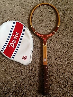 VTG RARE NOS TAD Imperial Unused W/ Cover Tennis Racket Spectacular Red Pennant