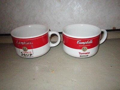 Vintage Campbell's 1994 Westwood Collectible Tomato Soup Cups Pair