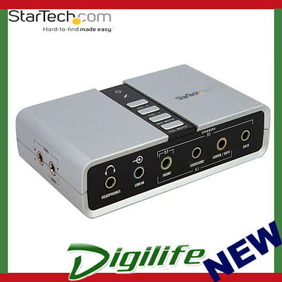 STARTECH 7.1 USB Audio Adapter External Sound Card with SPDIF Digital Audio