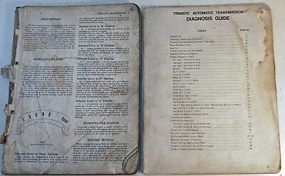 2 Holden Manuals: Trimatic (Automatic) Transmission Diagnosis Guide Torana(6636)