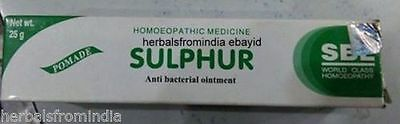 Sbl Homeopathy Sulphur Ointment 25 Gm Pomade For Dry Itchy Skin Free Shipping