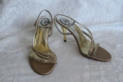 Xiomara Crystal Wedding and Party shoes, Upper and Sole Genuine Leather