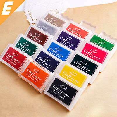 1x Colour Ink Stamp Pad Craft Oil Based Scrapbooking Album Rubber Paper Wood AU