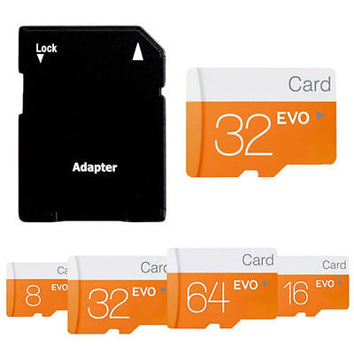 Micro SD 32GB 64GB 128GB TF Flash Memory Card + SD Adapter for Camera Phone Lot
