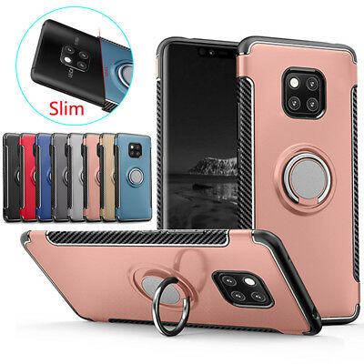 For Huawei Mate 10 20 Pro Shockproof Case Ring Stand Heavy Duty+Screen Protector
