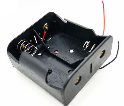 1 PCS 2 x 1.5V D Size Battery Holder Box  Case With Wire Lead