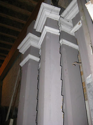 """Set of Six Porch Columns 10'4"""" Turn of the Century Home Architectural Salvage"""