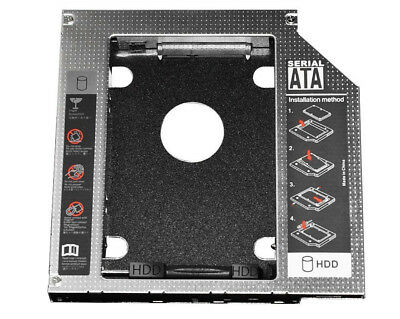 Aluminum 2nd 12.7mm SSD HDD SATA ODD Drive Caddy Adapter For CD DVD ROM Optibay
