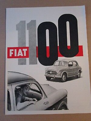 *advertising Pubblicita'  Fiat 1100 Berlina   - 1957 Vedi Altre Disponibili