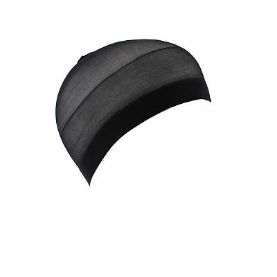 Zac's Alter Ego® 12 Pieces Black Flexible Stocking Wave Cap for Men