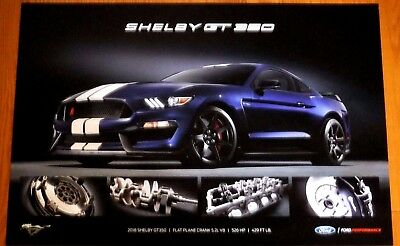 2018 Ford Mustang Shelby Gt350 24 X 36 Dealer Poster