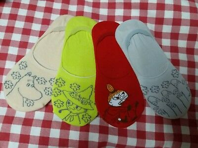 Lot of 4 pairs Moomin Valley Characters Little MY Foot Cover 22-24cm