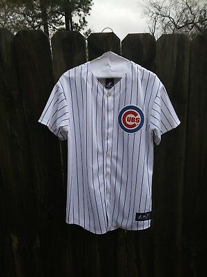 d754775f Majestic MLB Jersey Sosa Chicago Cubs 18 Pinstripe Youth XL Baseball