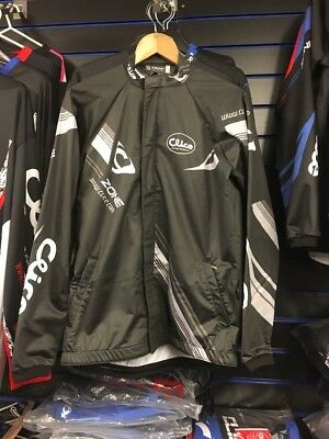 clice Zone water & wind proof trials enduro jacket Large BLACK Grey White