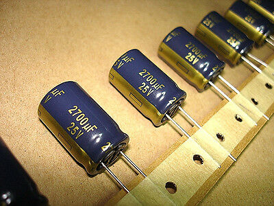 250pcs Box 2700uf 25v 105c Panasonic FC Series low impedance Capacitors NEW