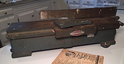 """Vintage Cast Sears Craftsman 4"""" Jointer, Model 103.23340 With Manual"""