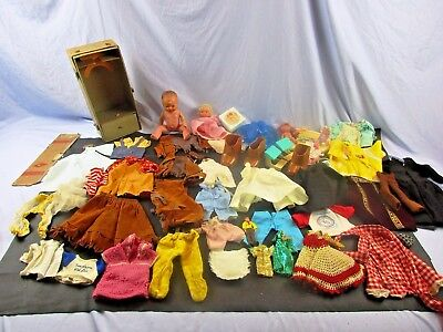 Huge Vintage Western Cabbage Patch Boots suede Outfit Toy Clothes Doll Lot