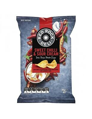 Red Rock Chip de Chilli Dulce y Crema Agria 90g x 12