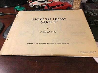 Walt Disney How To Draw Goofy By Copyrighted Walt Disney Productions World Right