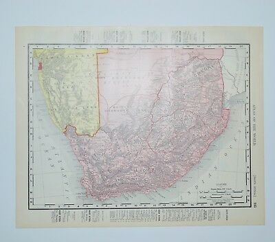 1903 ANTIQUE SOUTH Africa Map - Vintage Cape of Good Hope Map ...