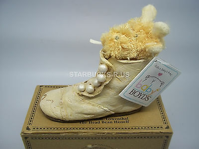 Boyds New Bear-Foot Gertie Step Back In Time Resin Shoe W/ Baby Plush Giraffe
