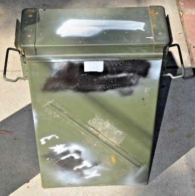 """VINTAGE Large  Ammunition Ammo Can Box Container Surplus Military Utility 23""""X14"""