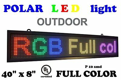 "OUTDOOR LED RGB color sign 40"" x 8"" with high resolution P10 and new SMD tech..."