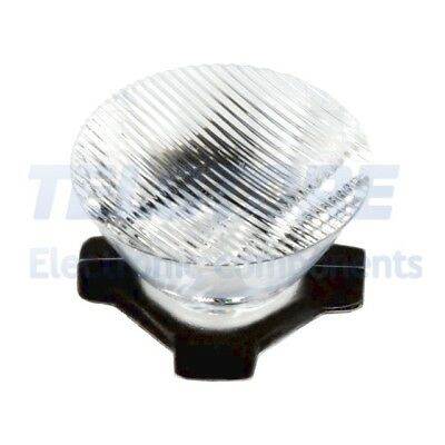 2pcs  Lentille LED rond transparent 8/55° Fixation ruban adhésif