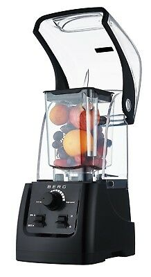 Berg 2200W 3Hp Commercial Food Blender Smoothie Maker Sound Enclosure - Black
