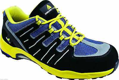 Delta Plus Panoply XR302 Black Yellow Composite Toe Safety Trainers EU 47 UK 12
