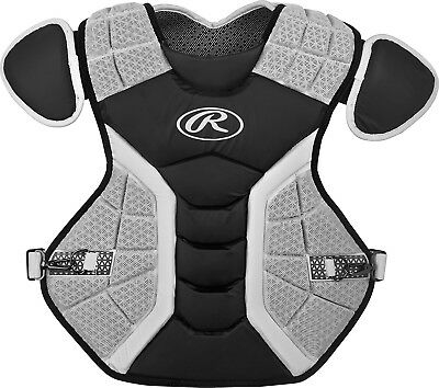 (43cm , Matte Black) - Rawlings Pro Preferred Series Chest Protector