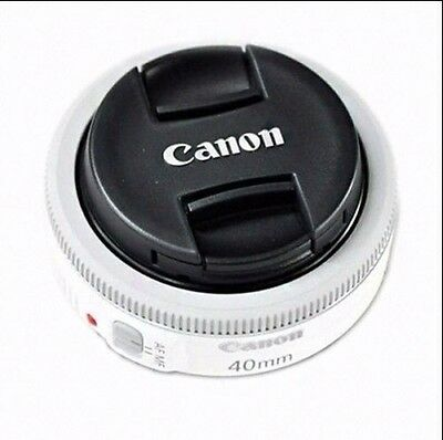 Canon EF 40mm F2.8 STM Pancake White Lens Digital Camera - Bulk package