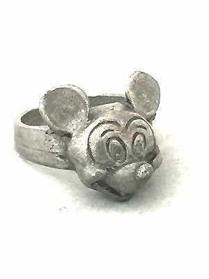 Vintage Sterling Silver Mickey Mouse Ring Size 4.75