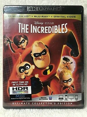 Walt Disney's The Incredibles 4K BLURAY Ultimate Collector's Edition