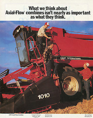 1990 2 Page Ad Case IH International Harvester 1680 Axial-Flow Combine Tractor