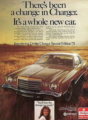 1974 Ad for 1975 Dodge Charger Special Edition You'll Love the Change We Made
