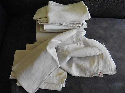 LOT DE LINGE ANCIEN 2kg200 COUPONS TORCHONS SERVIETTES MONOGRAMME