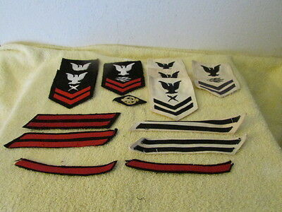 Lot of 14 Vintage WWII Era United States Military Patches US Navy