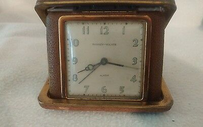 Phinney walker travel alarm clock vintage windup